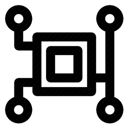 Icon resembling circuit diagram