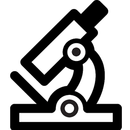 Icon with microscope